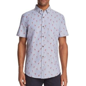 Sovereign Code Crystal Cove Flamingo Shirt M